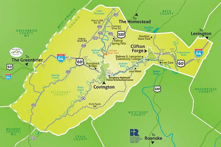 Map of the Alleghany Highlands